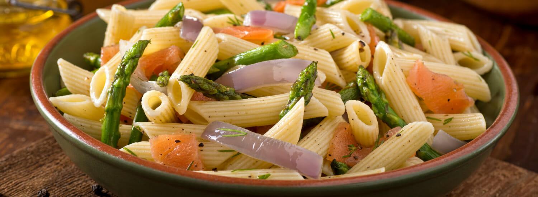 Pasta.com | Salmon Asparagus Pasta Salad Recipe