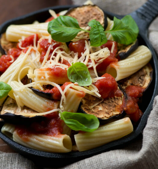 Pasta.com | Penne pasta with Eggplant Recipe