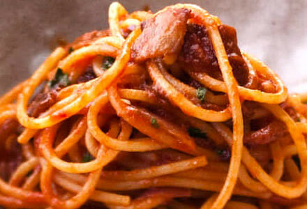 Bucatini all' Amatriciana Pasta